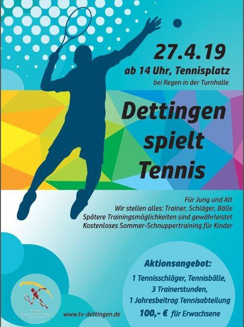 Dettingen spielt Tennis