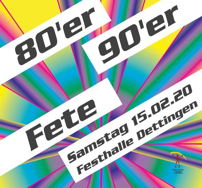 80er/90er-Fete 15.02.2020